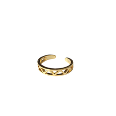 Lost & Faune Bague ajustable - Triangles multiples or