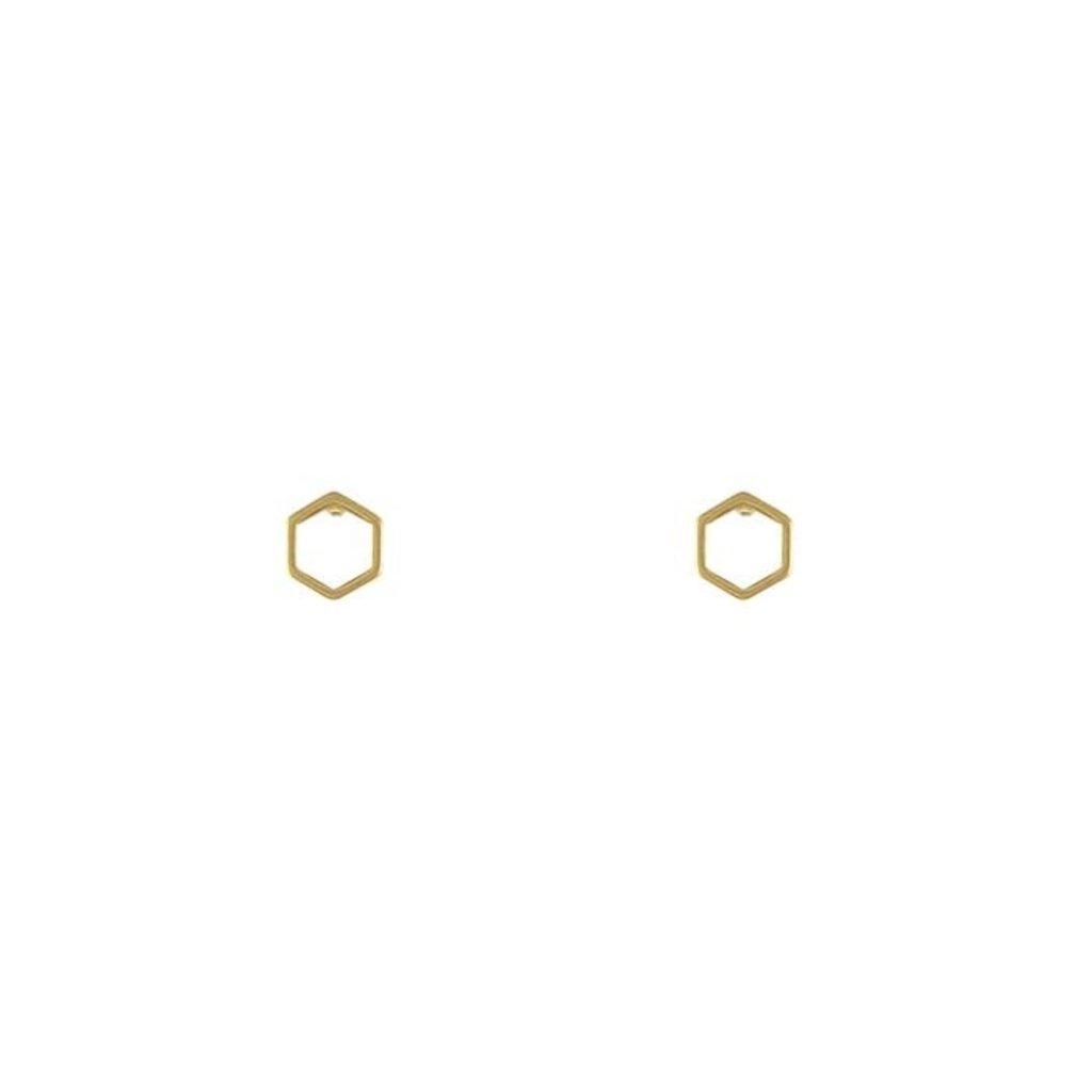 Lost & Faune Boucles d'oreilles - Hexagone