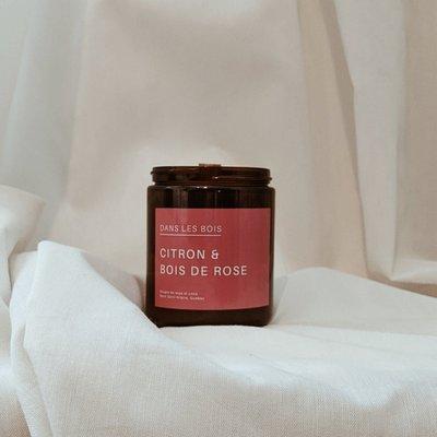 Dans les Bois Chandelle - Citron et Bois de rose (8oz)