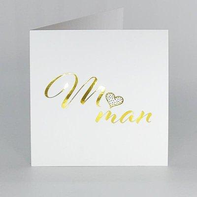 L'écrit reste... Carte (petite) - Maman
