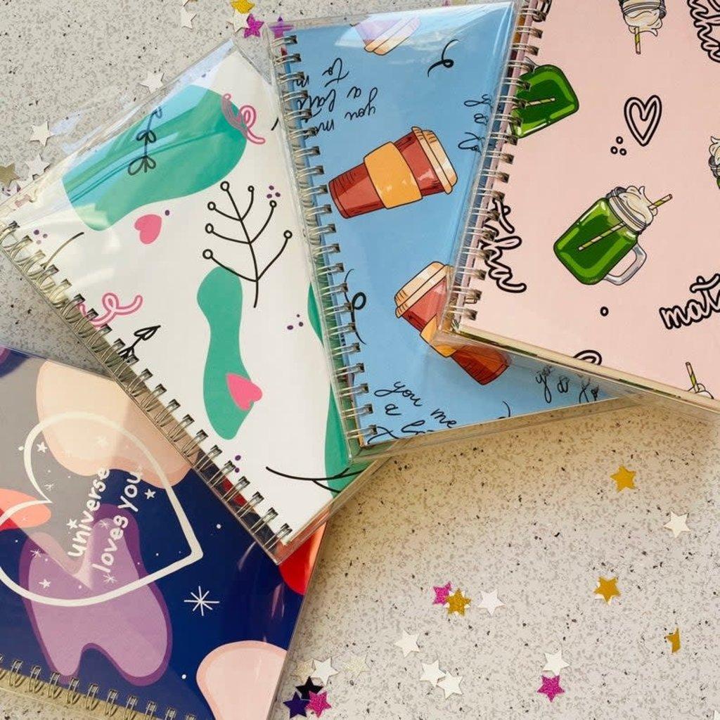 Bright Labels Cahier de notes à couverture rigide - Fleurs
