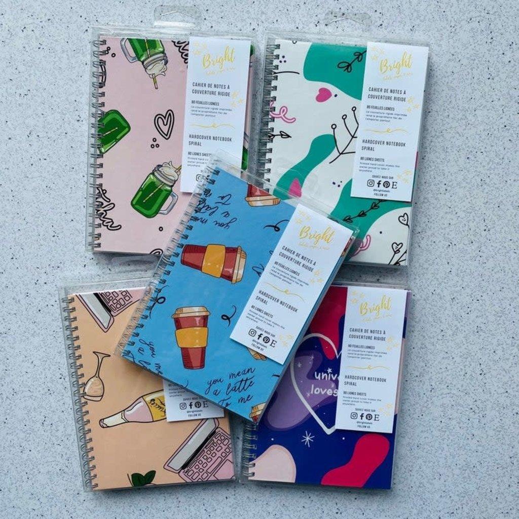Bright Labels Cahier de notes à couverture rigide - Femme ambitieuse