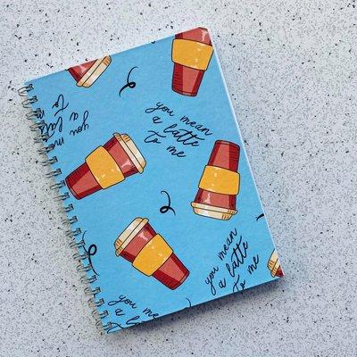 Bright Labels Cahier de notes à couverture rigide - Latte