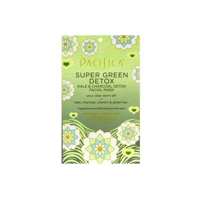 Pacifica Masque facial - Super Green Detox Kale & Charbon & Coriandre & Thé vert