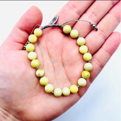 La Main Bleue Bracelet mantra - Jaspe citron