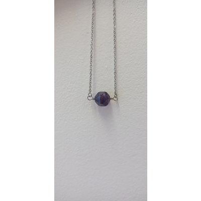 La Main Bleue Collier - Pépite Améthyste (Mauve)