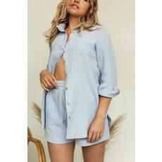 Dailystory clothing Chemisier Paula bleu