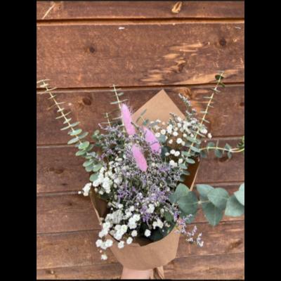Bouquet Fleurs et Eucalyptus
