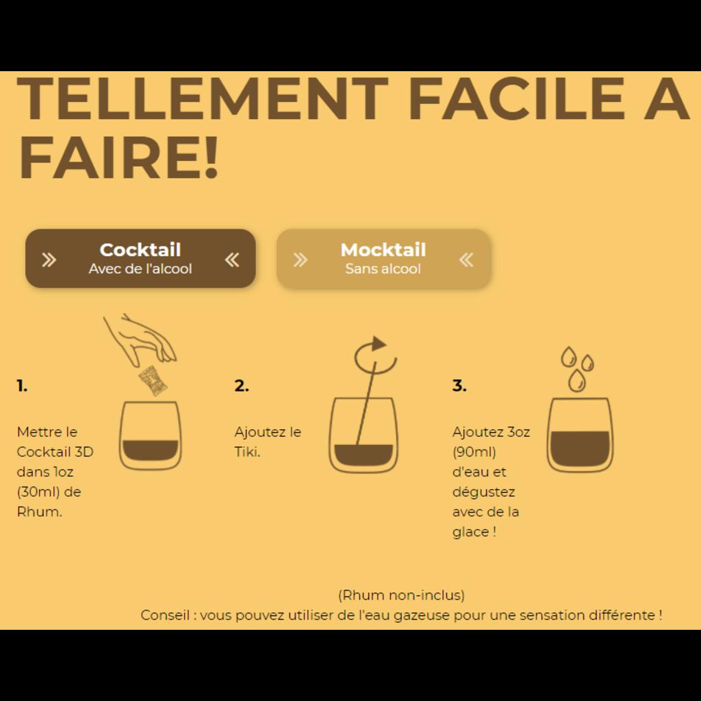 Poseidn Mélange 3D pour cocktails - TIKI MAI TAI