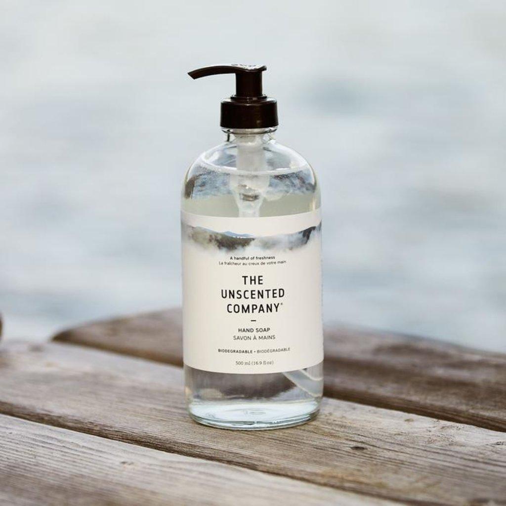 The Unscented Company Savon à mains sans fragrance - Bouteille en verre