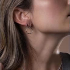 Midi34 Boucles d'oreilles -  Les Julia or blanc