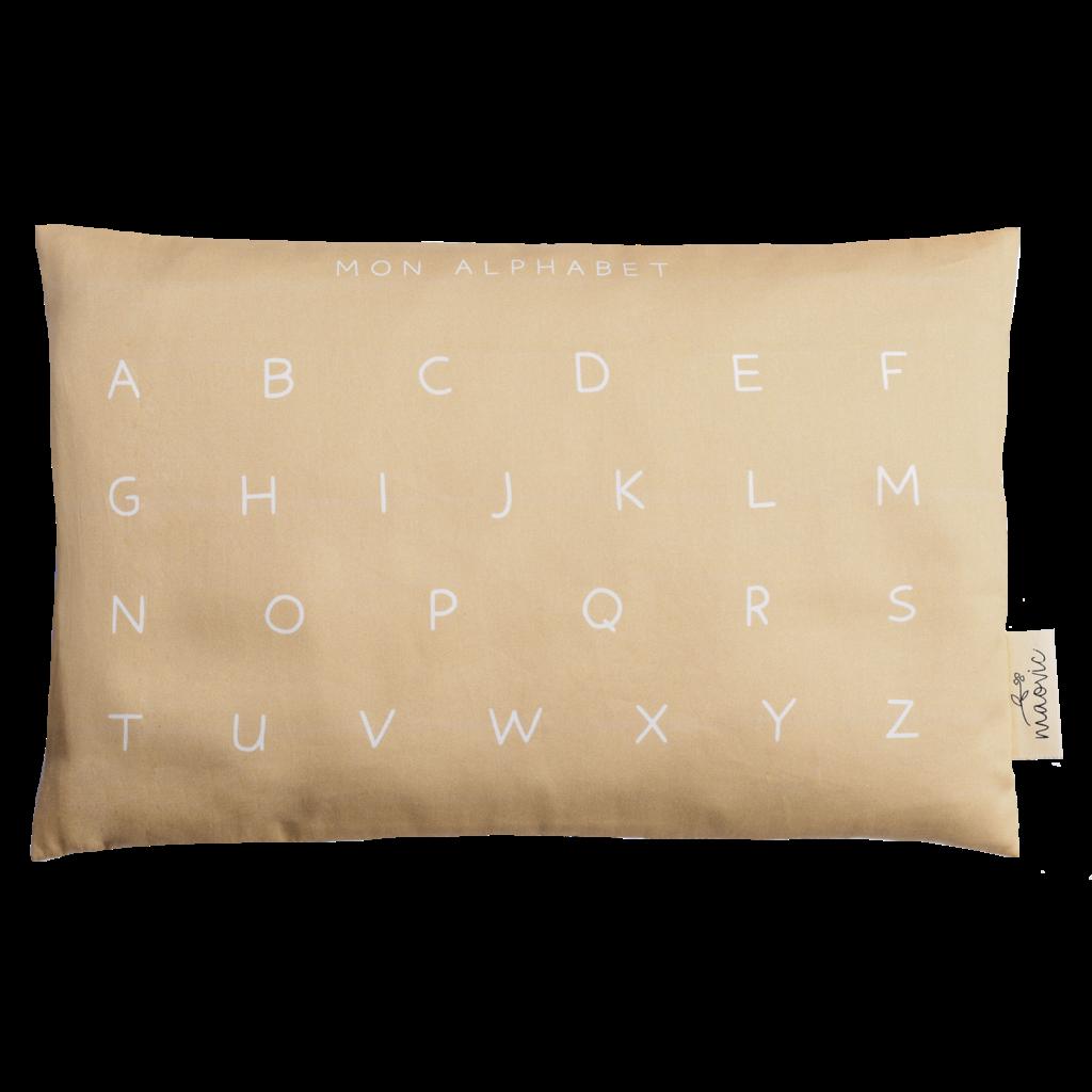 Maovic Oreiller en écales de sarrasin pour enfants - Mon Alphabet