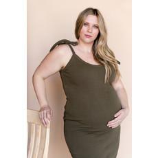 Rose Maternité Robe Anastasia - Vert Kaki