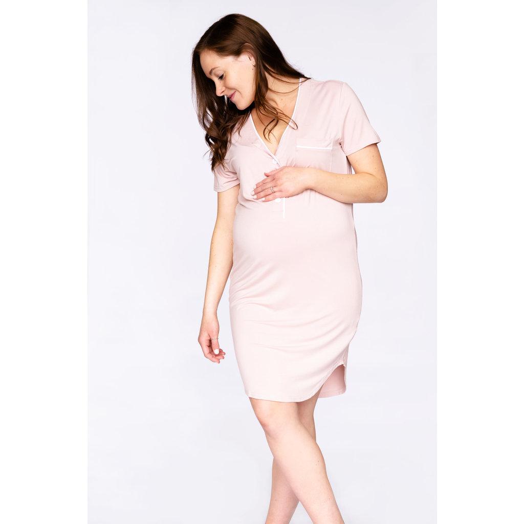 Rose Maternité Robe de nuit - Rose bébé