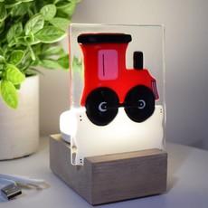 DUO verre fusion Veilleuse - Train rouge