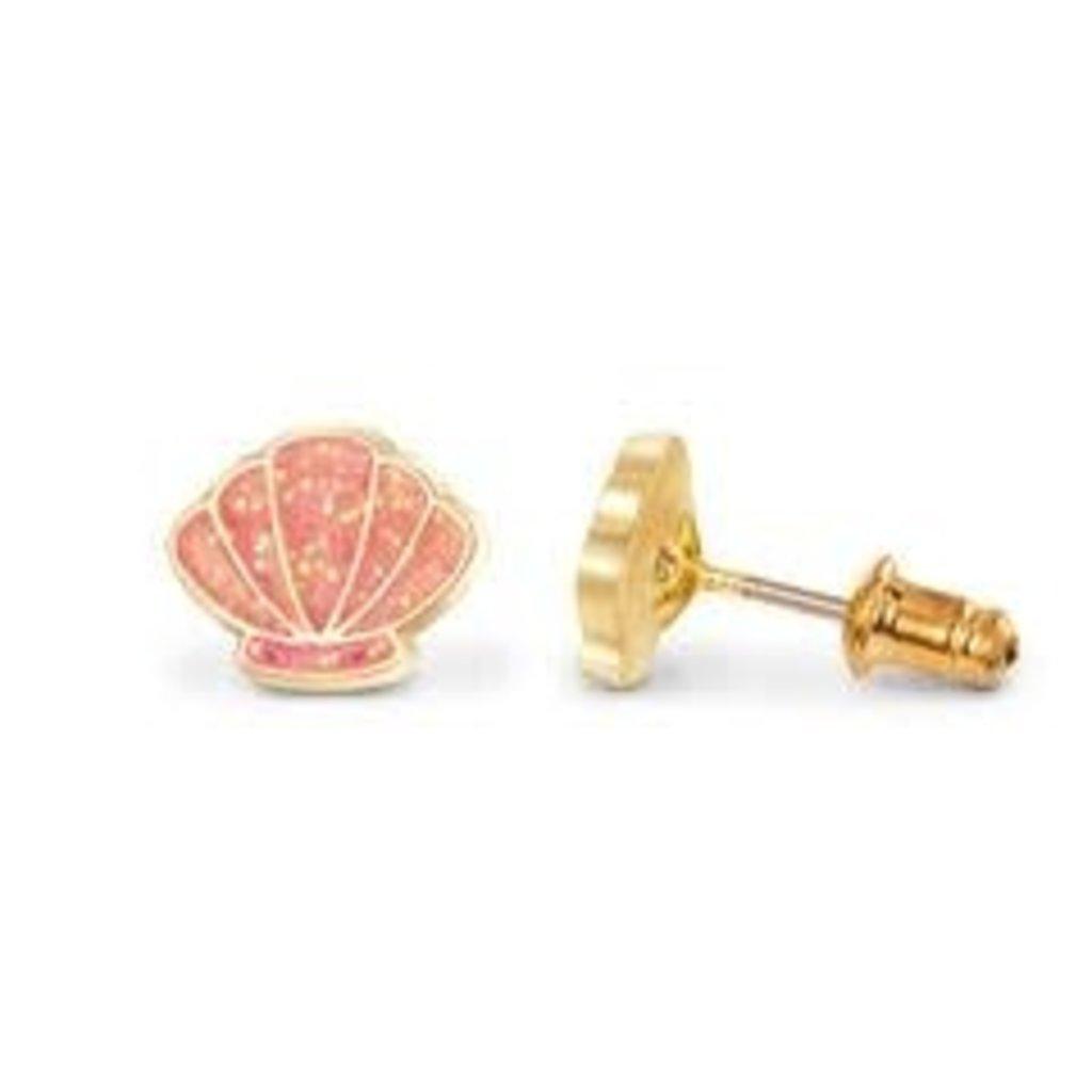 Girl Nation Boucles d'oreilles en émail - Coquillage