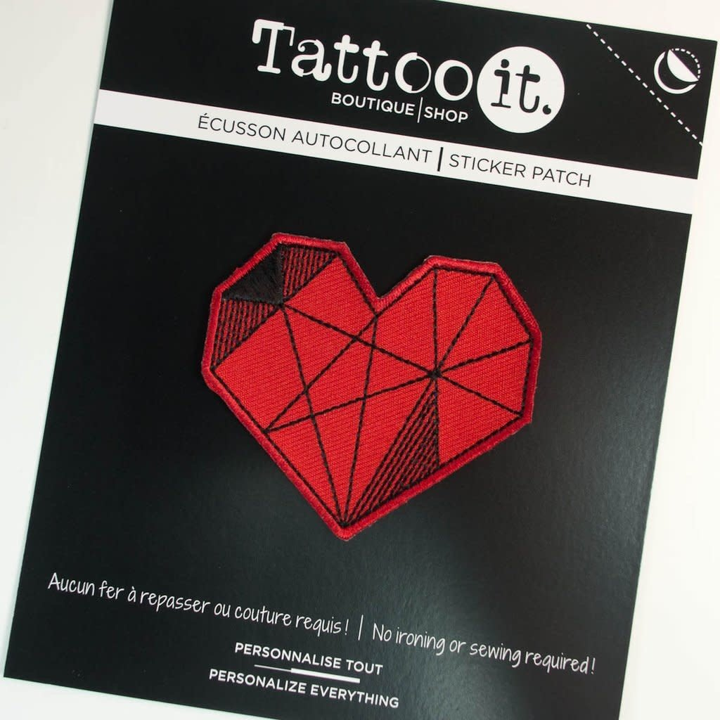 Tattoo it Écusson autocollant - Coeur géométrique