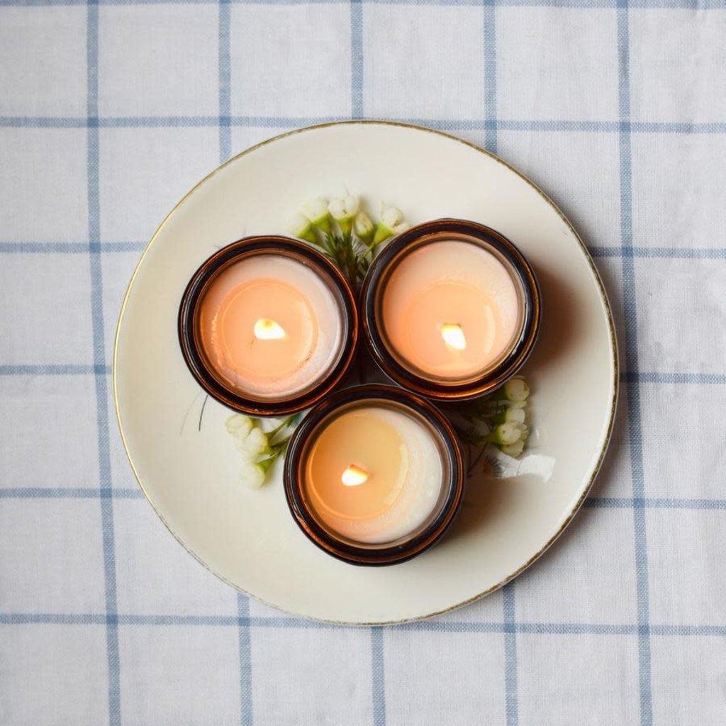 Baltic Club Ensemble de 3 mini bougies d'été