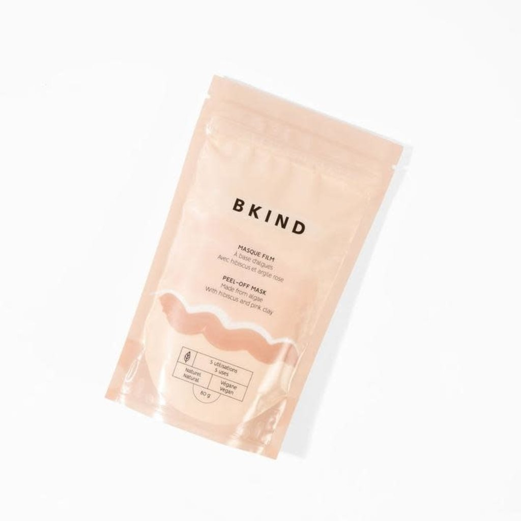 """BKIND Masque """"Peel-Off"""" aux algues - Hibiscus et argile rose"""