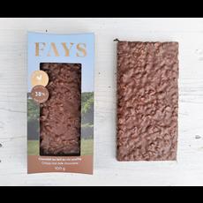 FAYS Terroir Chocolaté Tablette de chocolat au lait au riz soufflé