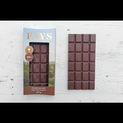FAYS Terroir Chocolaté Tablette de chocolat noir sans sucre