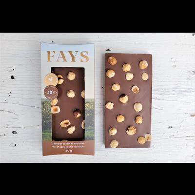 FAYS Terroir Chocolaté Tablette de chocolat au lait et noisettes