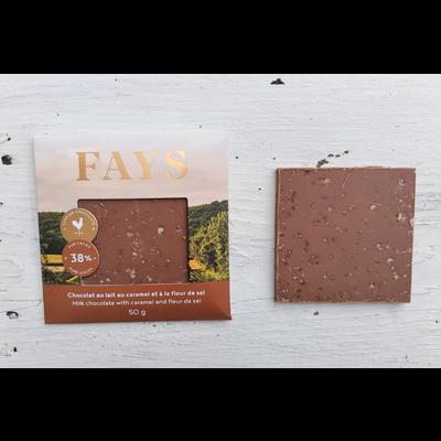 FAYS Terroir Chocolaté Petite tablette de chocolat au lait au caramel et à la fleur de sel