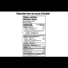 FAYS Terroir Chocolaté Petite tablette de chocolat noir au sucre d'érable