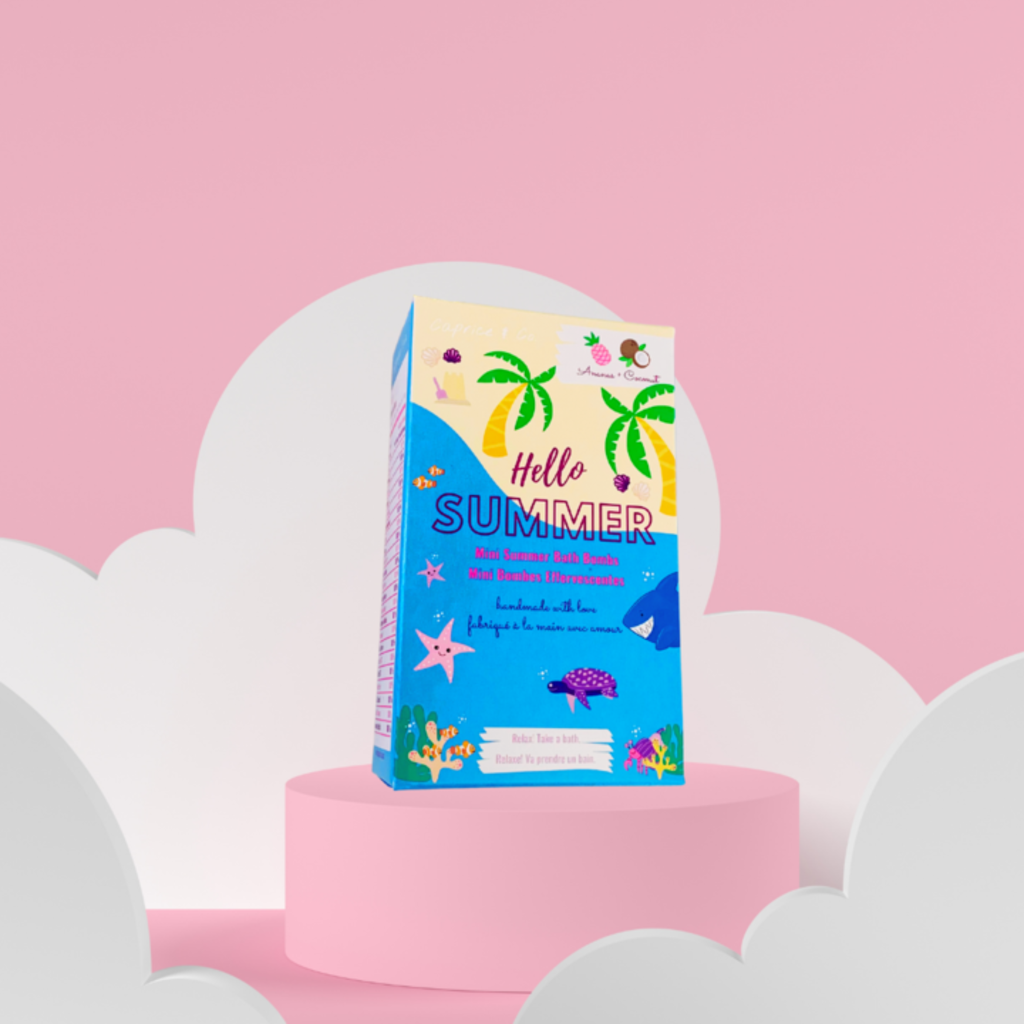 Caprice & Co. Mini bombes de bain - Ananas et Noix de coco