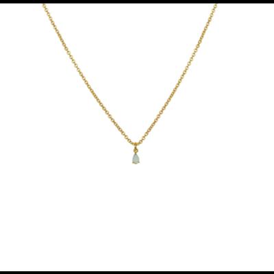 Lost & Faune Collier - Petite pierre du rhin menthe