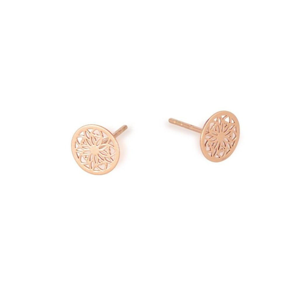 Lost & Faune Boucles d'oreilles - Mandala or rose