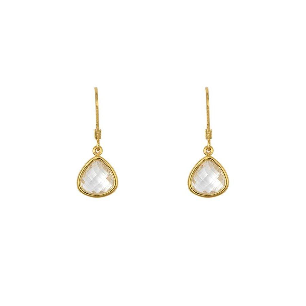 Lost & Faune Boucles d'oreilles - Gouttes de verre cristal