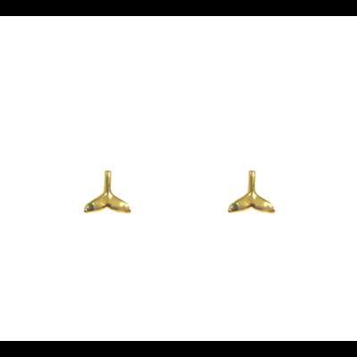 Lost & Faune Boucles d'oreilles à tiges - Queue de baleine or