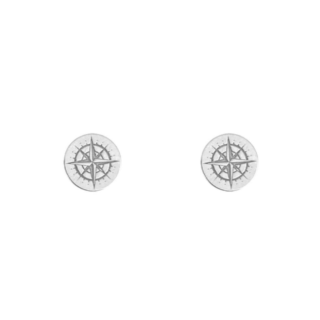 Lost & Faune Boucle d'oreilles à tiges - Boussoles argent