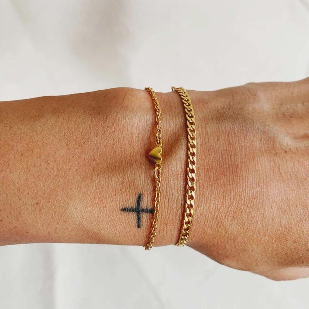 Twenty Compass Bracelet - Kira Gold
