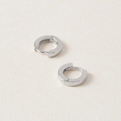 Midi34 Boucle d'oreilles anneaux or blanc - Jessica