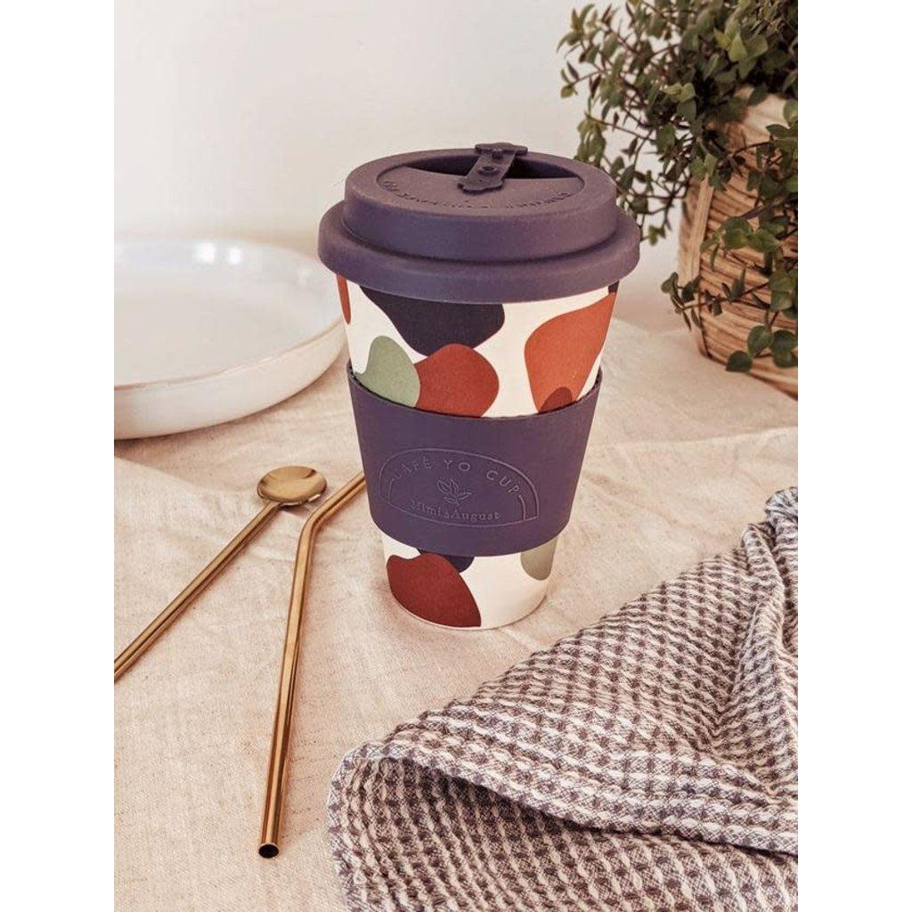 Mimi & August Tasse réutilisable en bambou - Shapes Cafe Yo