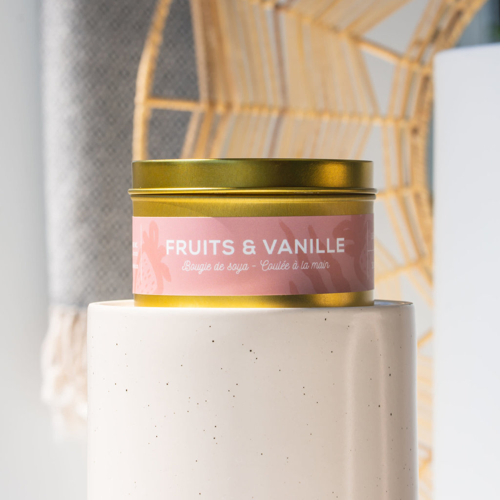 Dans la Prairie Chandelle de soya – Fruits et vanille (8oz)
