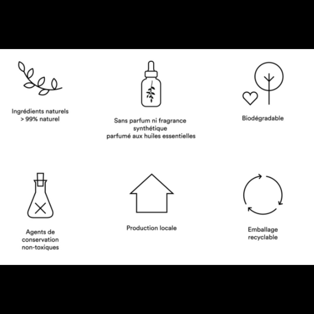 Atelier La Vie Apothicaire Lait nettoyant pour le corps - Géranium Bois de Hô
