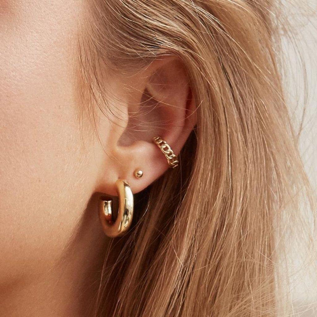 Twenty Compass Ear cuff - Chain vermeil