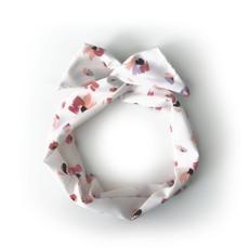 Gibou Bandeau torsadé floral - Blanc