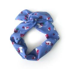 Gibou Bandeau torsadé floral - Bleu