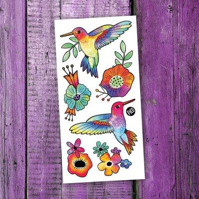 Picotatoo Tatouage - Les colibris colorés
