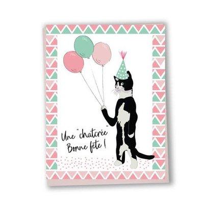Lili Graffiti Carte - Une ''chatcrée'' bonne fête!