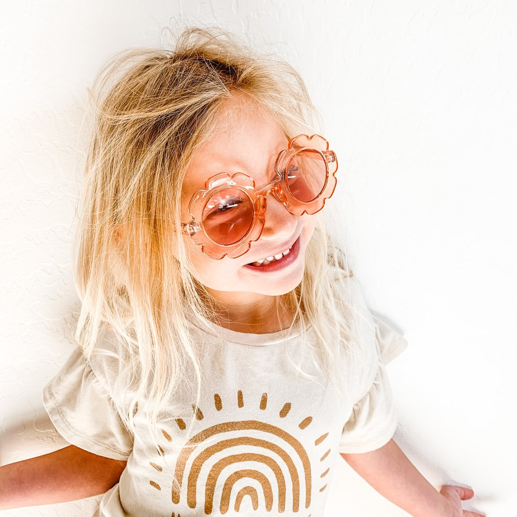 Miminoo Lunettes de soleil pour enfants UV 400 - Flower Power