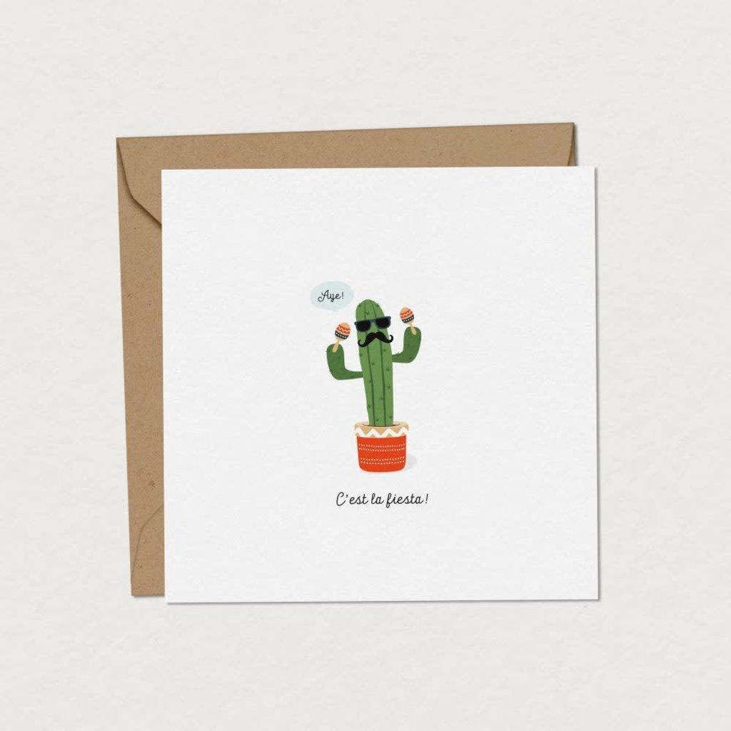 Mimosa Design Carte - Cactus festif