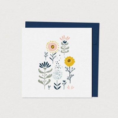Mimosa Design Carte - Fleurs naïves