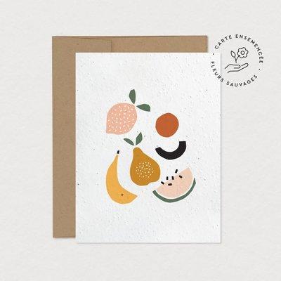 Mimosa Design Carte à planter - Fruits