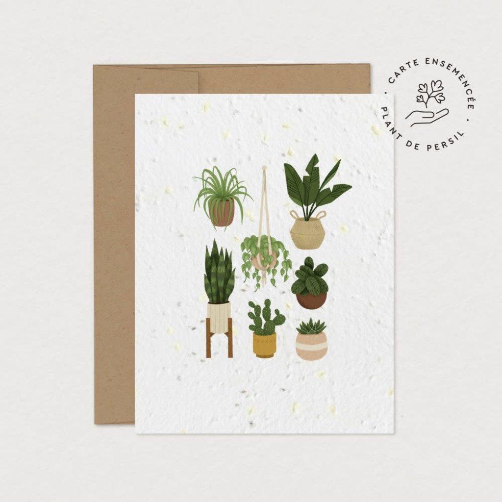 Mimosa Design Carte à planter - Pouce vert