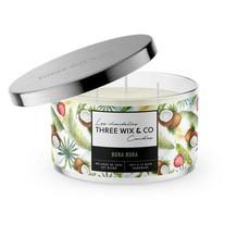 Three Wix & Co. Chandelle à trois mèches - Bora Bora